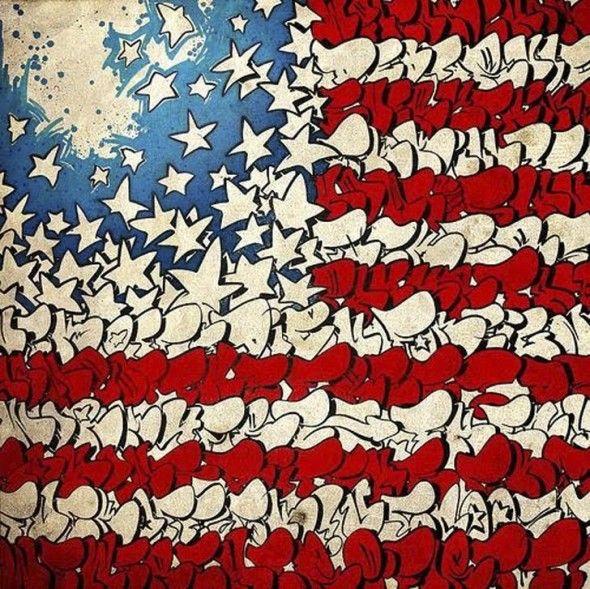 american flag graffiti - photo #17