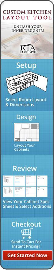 Online Kitchen Design Tool that walks you through each step of the kitchen design process