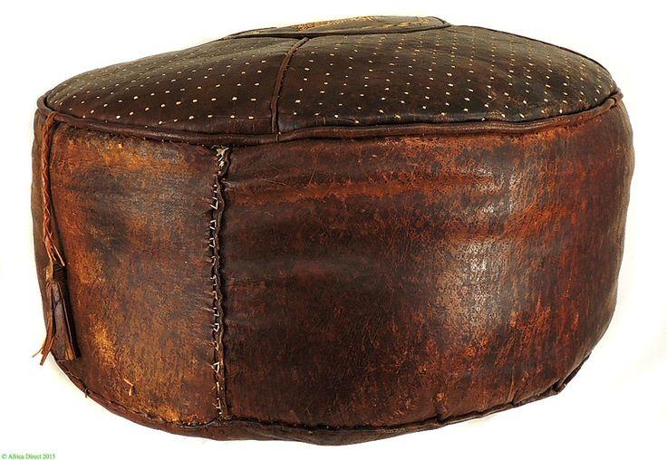 Hausa Leather Pouf Cushion Hassock Ottoman Africadirect