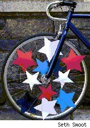 dress up the bike for the parade