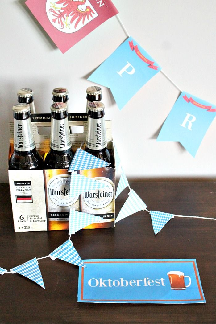 Oktoberfest Table Decorations Oktoberfest happens every September in Munich Germany and is famous for its beer gardens and various German foods.     When Milena from Craft Beering approached me to create some Oktoberfest printables, I was only to happy to