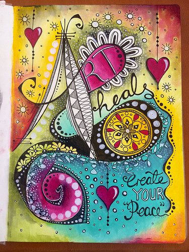 Doodle art journal page - Art Heals   Tracy Scott   Flickr