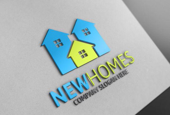 New Homes Logo by Josuf Media on @creativemarket
