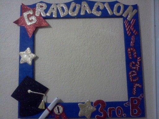 Marco para graduacion preescolar marcos para fiestas - Decoracion de marcos para fotos ...