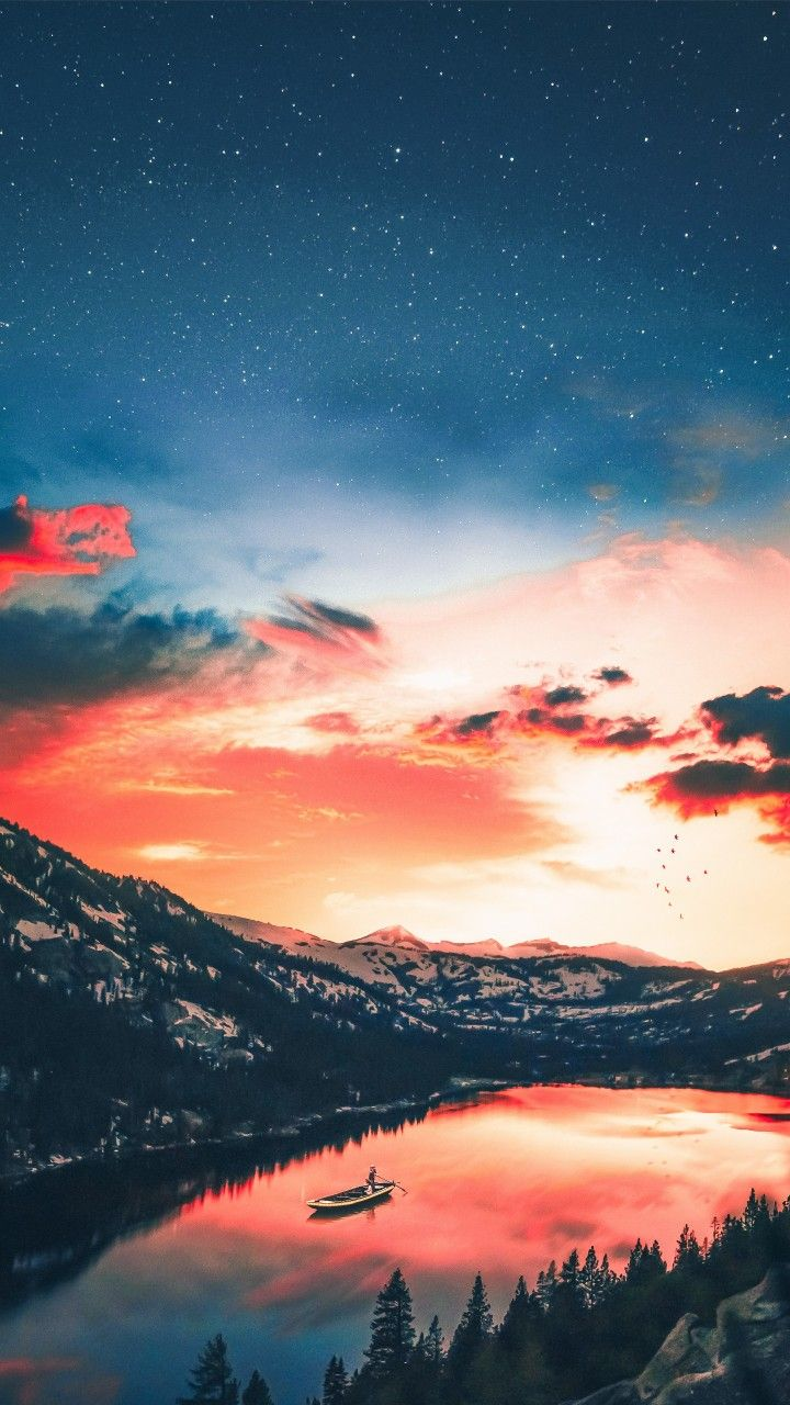Samsung Galaxy Note 8 Best Wallpaper Sky Sea Red Blue Paysage Paysages Magnifiques Fond Ecran