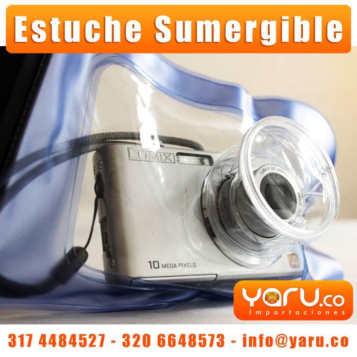 Utiliza el estuche sumergible para cámaras digitales para tomar fotos o grabar videos en cualquier situación: en playas, mar, piscinas, bajo la lluvia, o en actividades de buceo, natación, canotaje, etc.