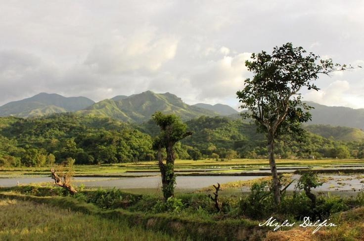 Mountains of Orilan in Abra de Ilog, Mindoro Island, Philippines.