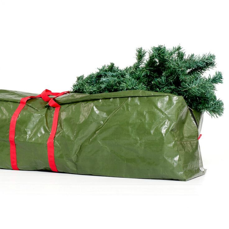 You don't need to stress about getting your Christmas tree storage bag to fit back into that broken box again.You can now store your tree in our sturdy zip-up Christmas Tree Storage Bag.