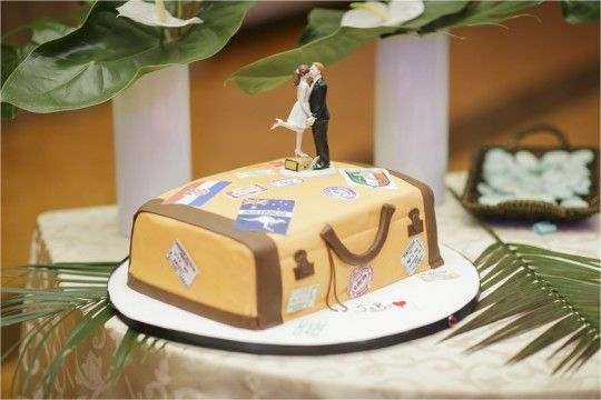 Travel themed bridal shower - love this cake!