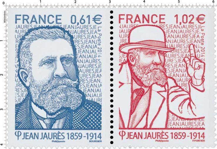 Timbre : 2014 Jean Jaurès - 1859-1914