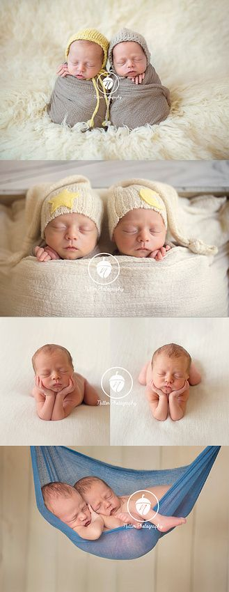 Newborn twins captured by nutter photography potato sack night night froggy hanging