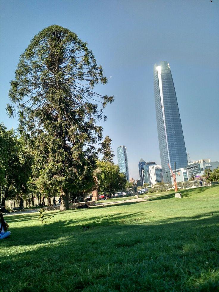 Costanera Center desde el Parque de Las Esculturas