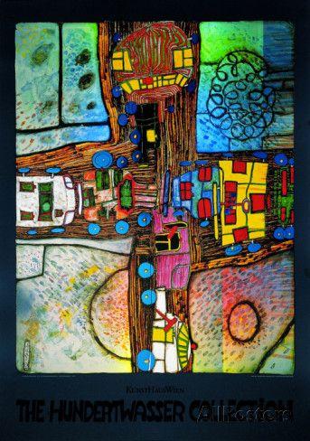 Strassenkreuzung Posters by Friedensreich Hundertwasser at AllPosters.com