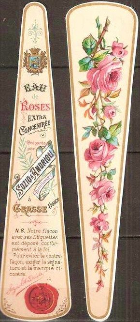 french perfume label. Great rose tattoo idea!