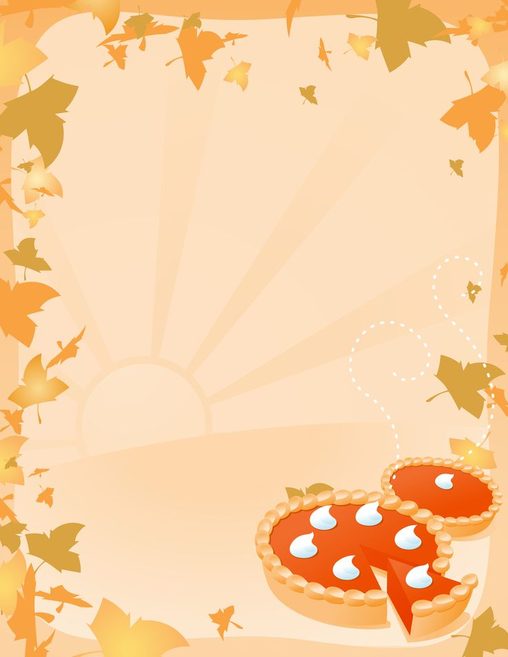 Thanksgiving Clip Art Borders Vector illustration of two