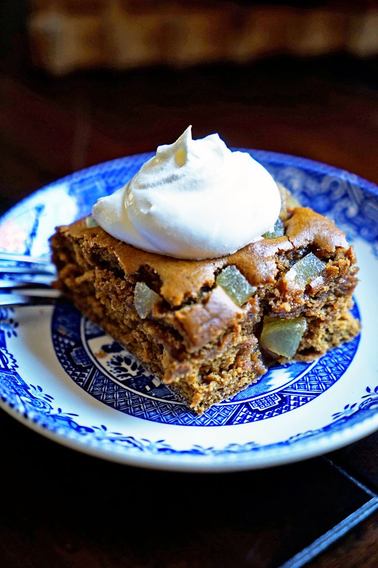 This Super Moist Gingerbread Cake has cinnamon, molasses and powdered ginger but the kicker comes from the nuggets of crystalized ginger crumbled on top prior to baking.