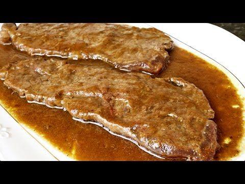 Filetes de lomo de ternera en salsa - YouTube