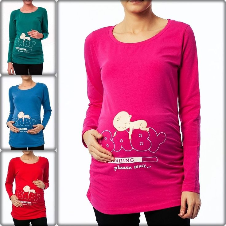 Umstandsmode Schwangerschafts-Mutterschaft_Sweatshirt mit Süßen Babydruck BV12