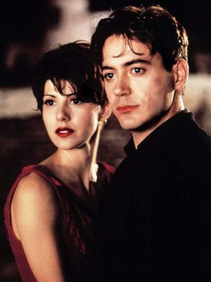 "Favorite Actors Marisa Tomei and Robert Downey Jr in one of my favorite movies ""Only You"". That Red Dress!!!"