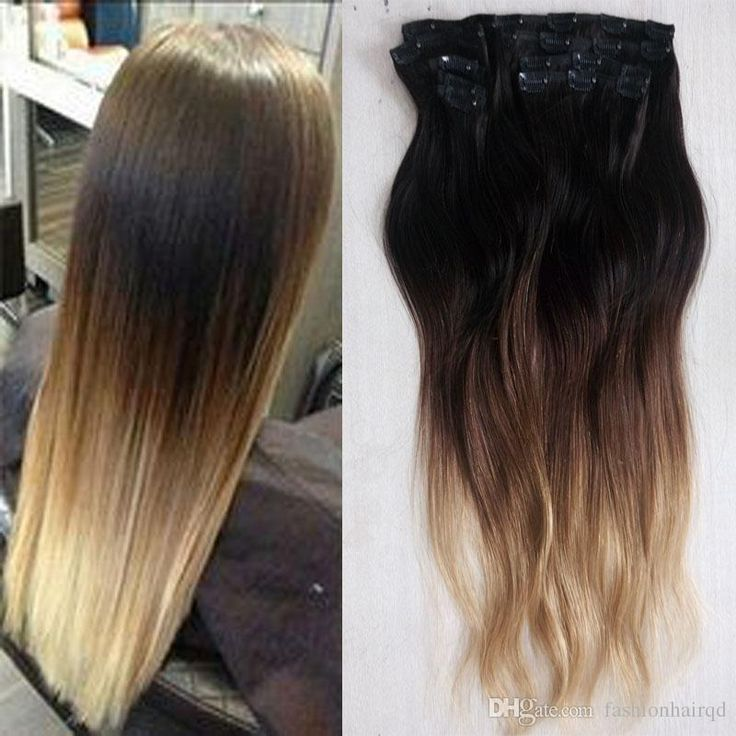22 best human hair extensions images on pinterest waves beauty 160g 24 26 28 ombre brazilian clip in human hair extensions t1b 4 27 straight virgin remy human hair 3tone clip in hair pmusecretfo Choice Image