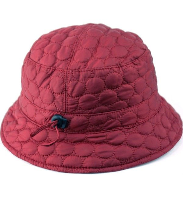 Cl2396 Foldable Water Repellent Quilted Rain Hat W Adjustable Drawstring Bucket Hat Burgundy Cw12n8yy6v1 Rain Hat Hats Water Repellent