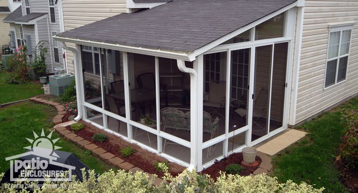 Sunroom pictures sun room photos sunroom ideas patio enclosures for the home pinterest - Screen porch roof set ...
