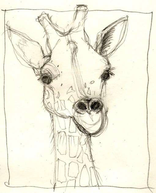 giraffe drawing - Google Search
