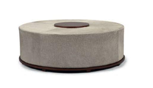 Puff/Mesa Circle madera y Cuero