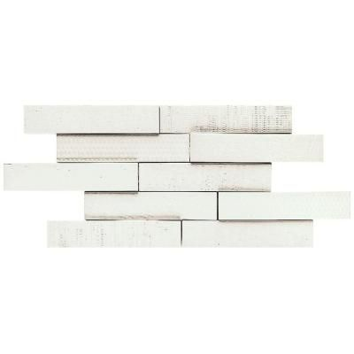 Merola Tile Tira Mattone Valge 2 in. x 9-1/2 in. Porcelain Wall Tile (1.4 sq. ft. / pack)-FNU10TMV at The Home Depot