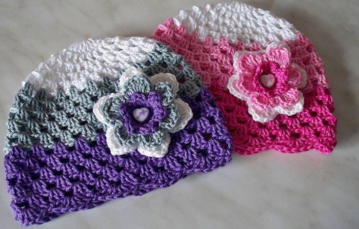 Návody | Návody | Jarná trojfarebná čiapka - návod | Galantéria Lucia