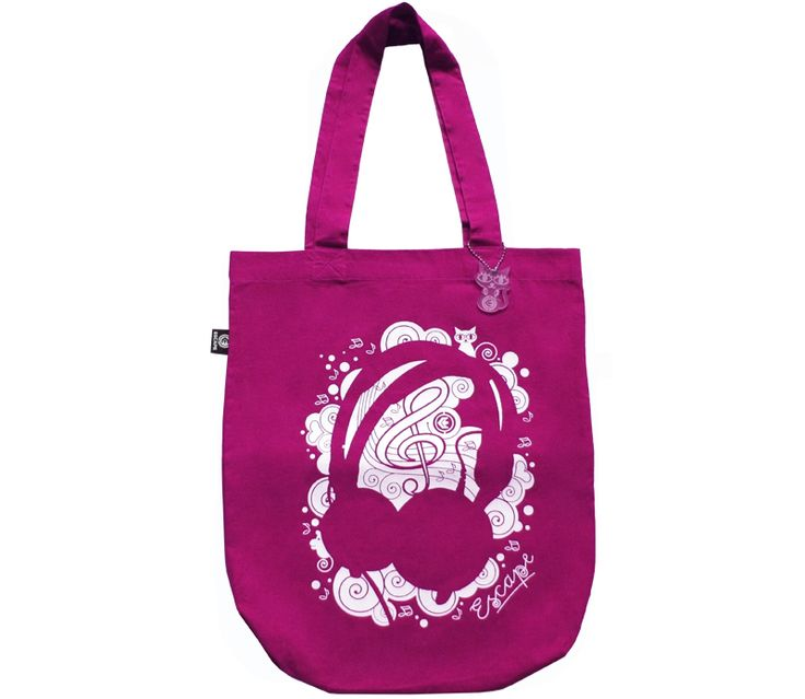 Canvas-bag Phones pink from Escape Wear