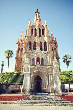 San Miguel de Allende, Cathedral Guanajuato, Mexico #placesofworshipserendipity