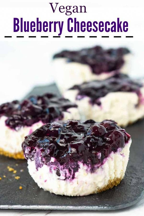 Blueberry cheesecake, especially in mini form, is a favorite dessert of mine. Th…