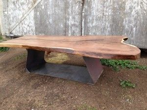 Live Edge Wood Slabs Black 39 S Farmwood Dining Tables