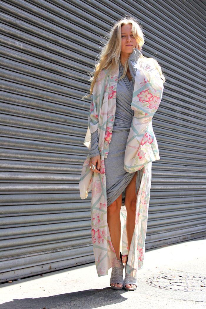 streetstyle fashion kimono - Google Search