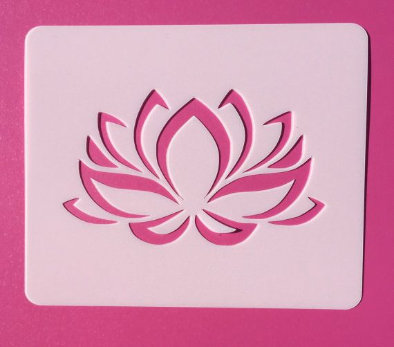 Lotus Flower Stencil Reusable Stencil by ArtisanGlassStencils