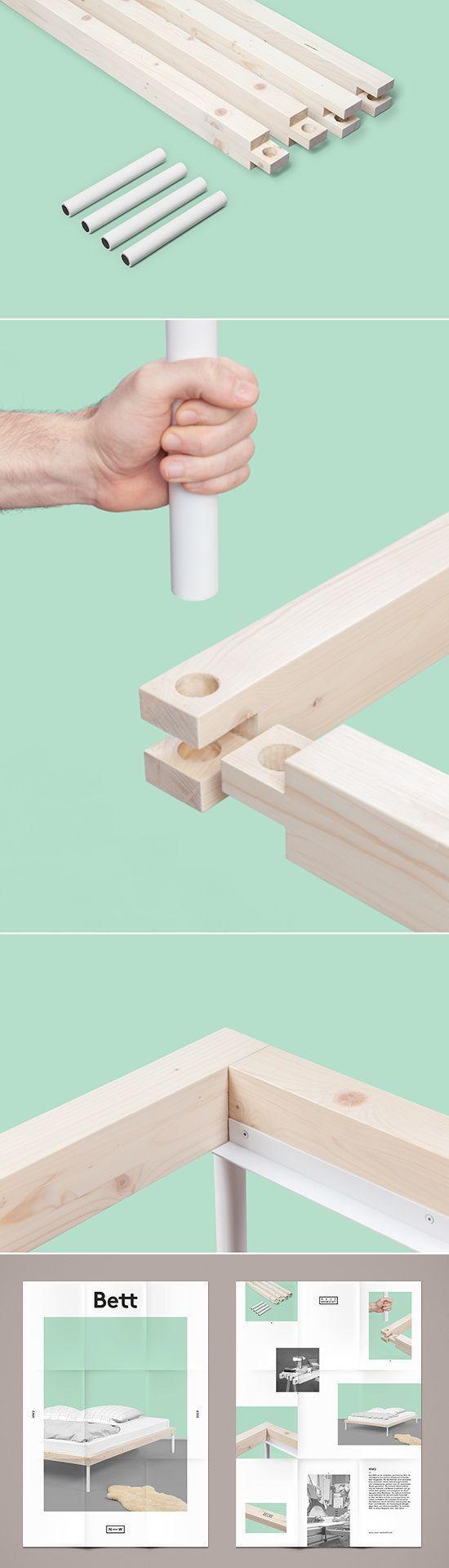 Union de piezas mediante una llave