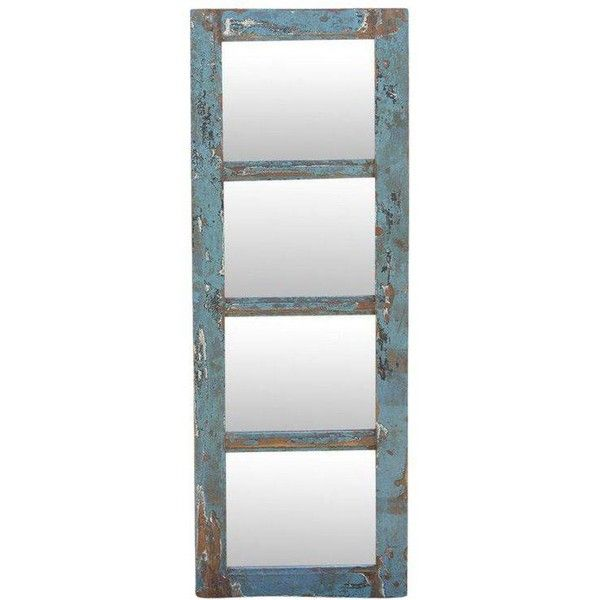 Aged Blue Painted Wood Framed Four-Panel Mirror ($515) ❤ liked on Polyvore featuring home, home decor, mirrors, full-length & floor mirrors, wooden full length mirror, wood mirror, wooden framed mirrors, antiqued mirror and full length floor mirrors