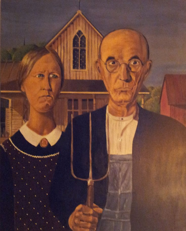 My Acrylic Version Of Grant Wood S American Gothic