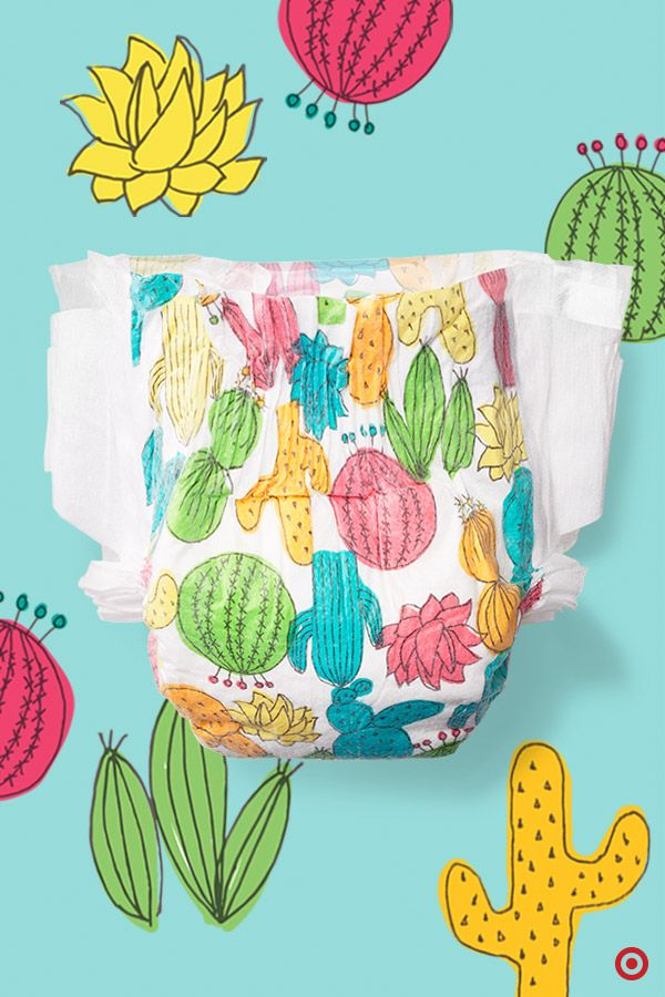 Gentle and non-irritating on sensitive baby skin, The Honest Co. Desert Flowers–print diapers are ultra absorbent, eco-friendly and super adorable. Made with sustainable materials, these diapers are free of additives, like fragrance, lotions and latex, and have a comfy-stretch waistband and side panels for a secure fit.