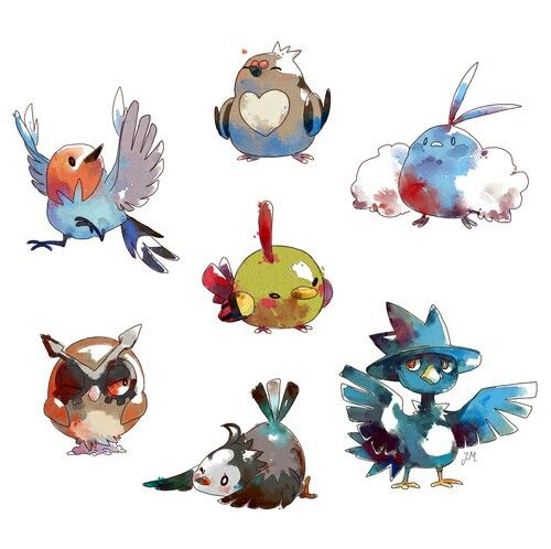 Flying types are not just cute, but useful! They need less weaknesses though.