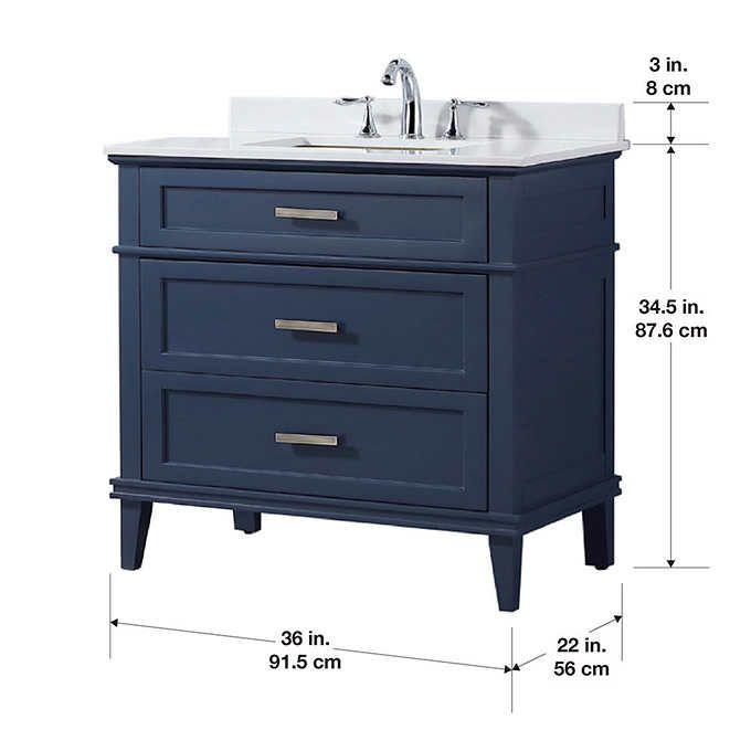 Ove Tux 36 In Midnight Blue Vanity Blue Vanity 36 Inch