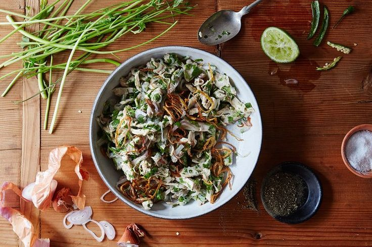 Burmese Chicken Salad recipe on Food52  (chickenless strips)
