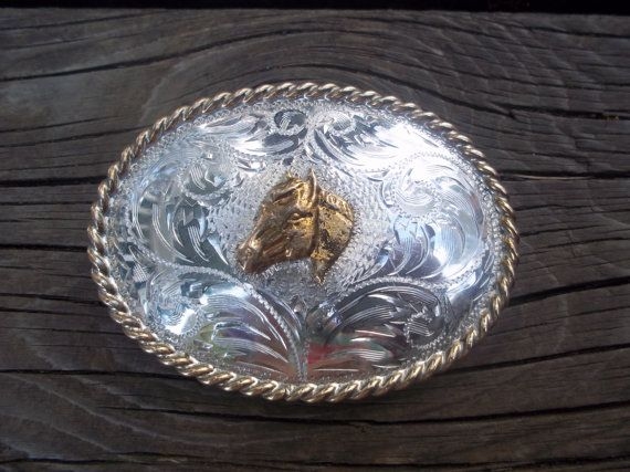 Rodeo Belt Buckle B-K Silversmiths Hand by TheEclecTiqueRaven