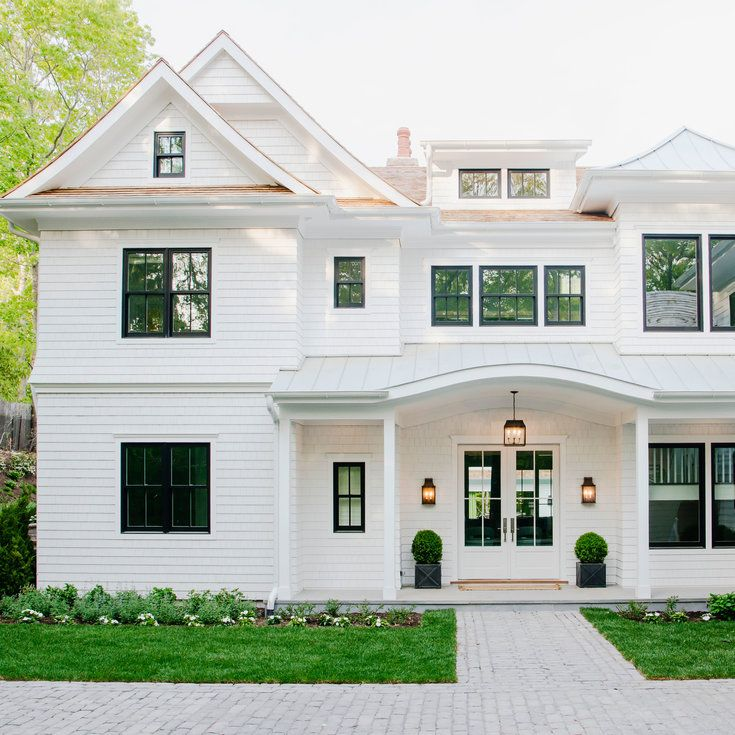 Best 25 white exterior houses ideas on pinterest white for Coastal living exterior paint colors