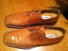 MEZLAN MARANELLO TAN OXFORD LEATHER SHOES 13M EUC  VERY NICE!