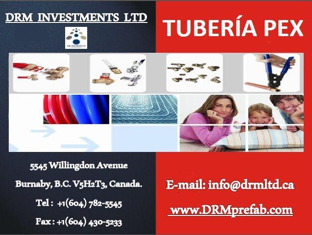 Tubería PEX. www.drmprefab.com