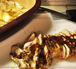 10 Minute BBQ Pork Tenderloin in Pampered Chef Deep Covered Baker