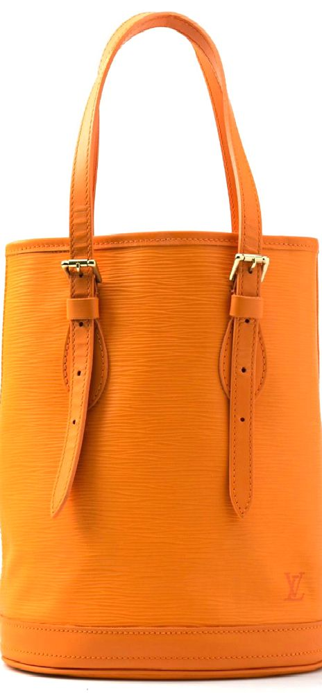Vintage Louis Vuitton ● Orange epi leather bucket bag