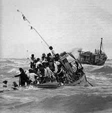 The Vietnamese boat people and their devastating stories.  http://www.vietka.com/Vietnamese_Boat_People/